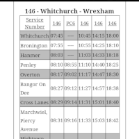 YJ13HHX - Service 146 Whitchurch-Wrexham